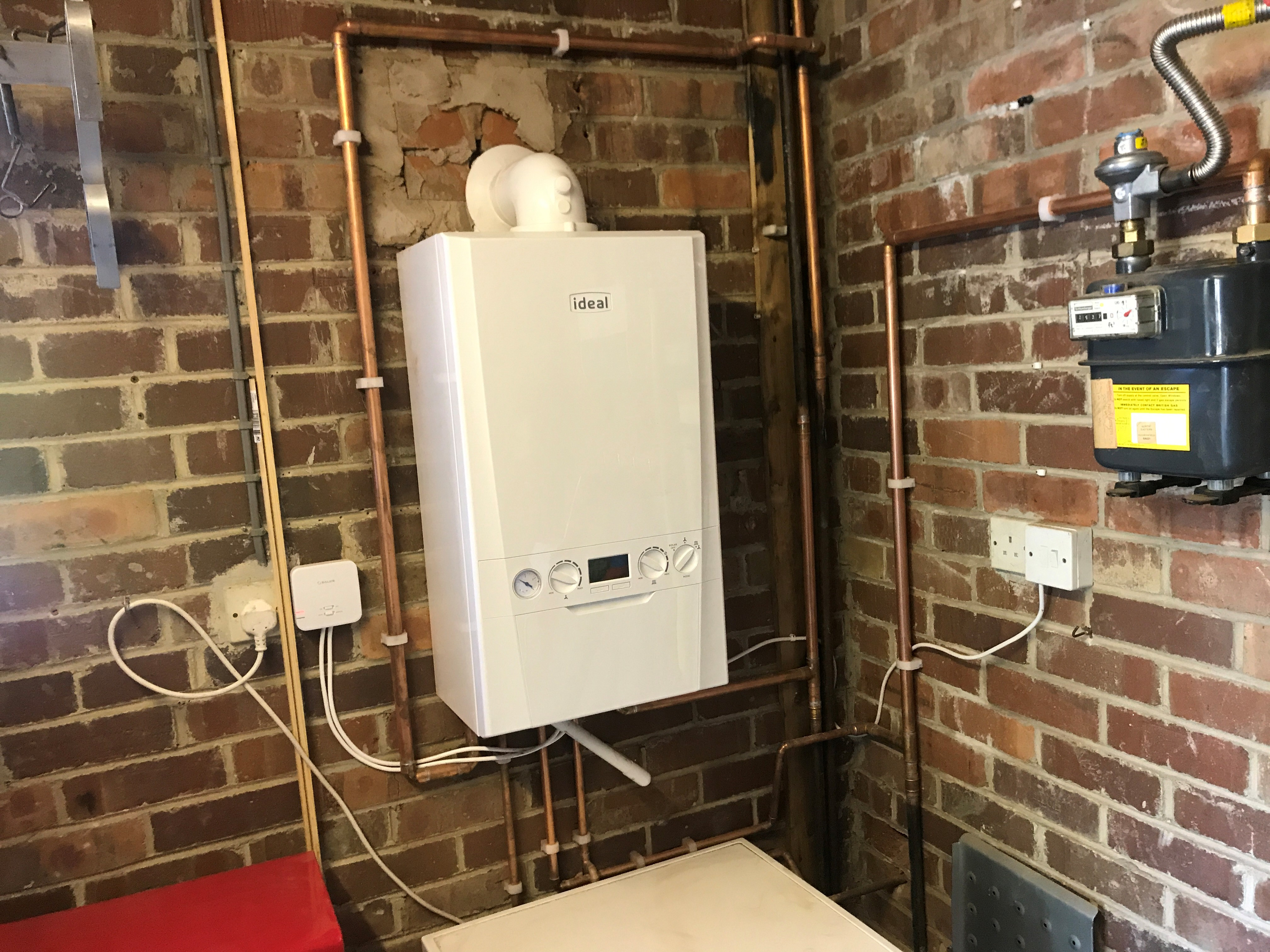 White Ideal logic combi coiler installed in Huddersfield Milnsbridge